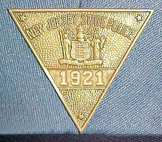 New Jersey State Police - Image: NJSP Badge 1921