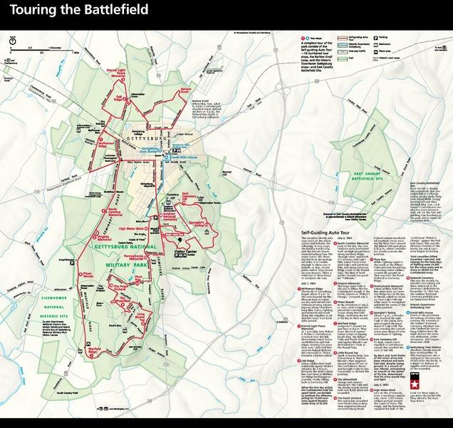 NPS gettysburg-map