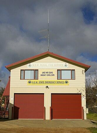 Junee Shire - Image: NSWRFS JSC ECC NSW SES building