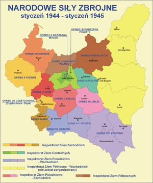 National Armed Forces - Territorial structure and organization of the NSZ