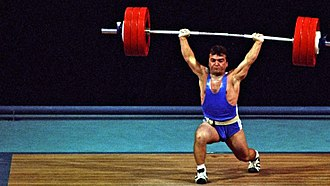 Clean and jerk - Naim Süleymanoğlu sets the world record clean and jerk of 190 kg at the 1988 Summer Olympics.