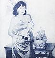 Nana Mayo with trophy Dunia Film 15 Jul 1954 p1.jpg