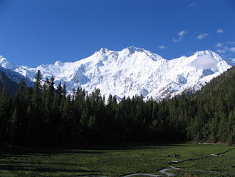 Kashmir - Nanga Parbat in Kashmir, the ninth-highest mountain on Earth, is the western anchor of the Himalayas