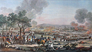 Carle Vernet - The Battle of Wagram; colored litho by Carle Vernet and Jacques Swebach