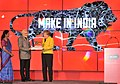 Narendra Modi and the German Chancellor, Ms. Angela Merkel at the Joint Inauguration of the India Pavilion and the Joint Walk-About Make in India, in Hannover (2).jpg