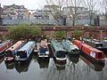 Narrowboats moored on the Regent's Canal - geograph.org.uk - 1252398.jpg