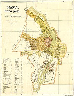 Narva linna plaan, 1929