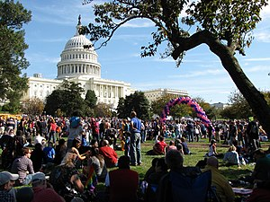National Equality March - Rally at the west front of the United States Capitol following a march down Pennsylvania Avenue NW.