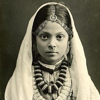 Khas people - Khas girl in 1900s
