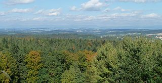 Neuburg Forest mountains in Germany