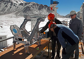 Atacama Pathfinder Experiment - Image: New APEX instrument for finding water in the Universe New APEX instrument for finding water in the Universe