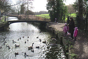 Enfield Town Park - The New River in Enfield Town Park