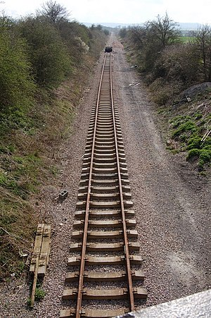 Stanton, Gloucestershire - New track being laid for the restoration of the Gloucestershire Warwickshire Railway through Stanton parish