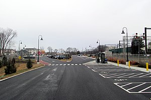 Old Saybrook station - The new parking area photographed in December 2016