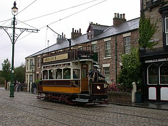 Newcastle Corporation Tramways - Newcastle tram No. 114 at Beamish Museum
