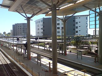 Newmarket railway station, Auckland - The new station under construction in 2009