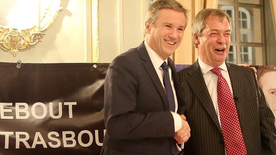 Nicolas Dupont Aignan et Nigel Farage