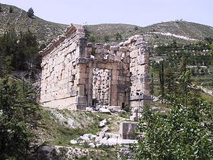 The Lower Great Roman temple in Niha, Bekaa