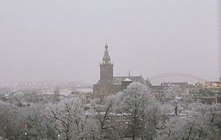 A view over the center of Nijmegen in the wintertime