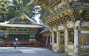 Kagura - Kagura hall (left) at Nikkō Tōshōgū, a Shinto shrine associated with the founder of the Tokugawa Shogunate
