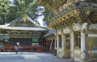 Kagura - Kagura hall (left) at Nikkō Tōshōgū, a Shinto shrine associated with the founder of the Tokugawa Shogunate