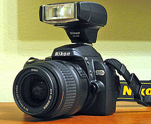 Image of a Nikon D40x Digital SLR camera with ...