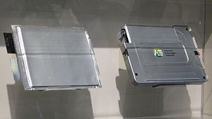 Automotive Energy Supply Corporation - Image: Nissan Li ion Battery (used on Leaf) in Tokyo Motor Show 2009
