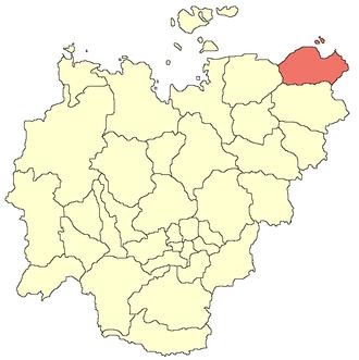 Nizhnekolymsky District - Image: Nizhnekolymsky ulus location