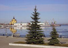 Nizhny Novgorod The spring Strelka.jpg