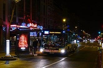 Noctilien - Noctilien Bus N02 at Vavin near Paris-Gare Montparnasse