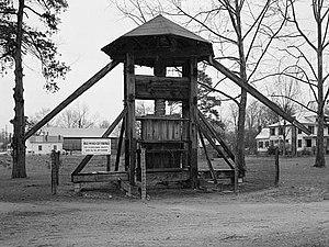 National Register of Historic Places listings in Edgecombe County, North Carolina - Image: Norfleet Plantation, Cotton Press, Albermarle Street (moved from Norfleet Plantation), Tarboro (Edgecombe County, North Carolina)