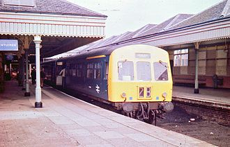 North Berwick railway station - The extensive station facilities in April 1974