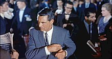 Still from North by Northwest depicting Cary Grant