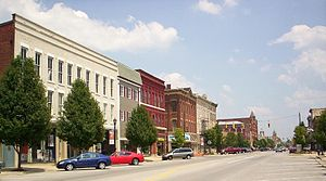 Norwalk, Ohio - Uptown Norwalk, looking east on West Main Street