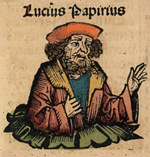 Lucius Papirius Cursor - Lucius Papirius, as depicted in the Nuremberg Chronicles.