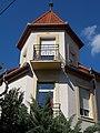 Nyírádi Villa, tower in József Attila Street, Hévíz, 2016 Hungary.jpg