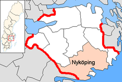 Nyköping Municipality in Södermanland County.png