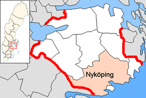Nyköping Municipality - Image: Nyköping Municipality in Södermanland County