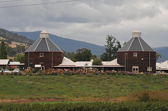 New Norfolk - Replica oast houses built for a nursing home in New Norfolk