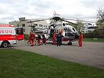 OH-HVG och ambulans, mot ambulansen, ÅUCS maj 2012.jpg