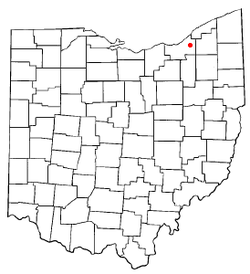 Location of Beachwood in Ohio
