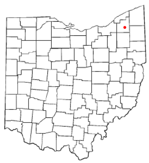 Burton, Ohio - Image: OH Map doton Burton