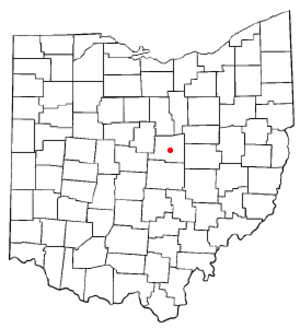 Gambier, Ohio - Image: OH Map doton Gambier