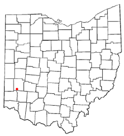 Location of Germantown, Montgomery County, Ohio