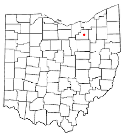 Location of Medina, Ohio