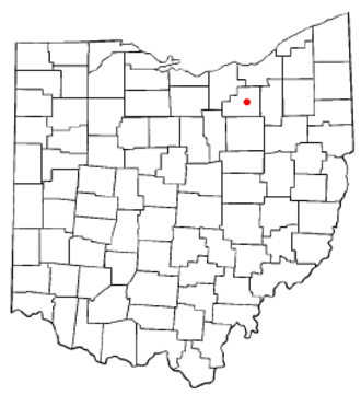 Medina, Ohio - Image: OH Map doton Medina