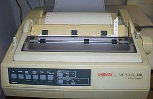 Oki Electric Industry - Oki Data Microline 320 dot matrix printer.