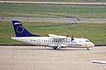 OY-CIR ATR.42-310 Team LH-Cimber FRA 14AUG99 (5934230979).jpg