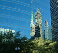 Oakland downtown modern buildings reflection detail.jpg