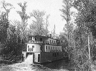 Ocklawaha River - Metamora paddle wheel steamboat on the Ocklawaha c. 1902. Did tours from Palatka to Silver Springs